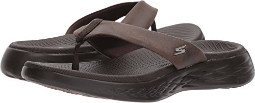 - Skechers Performance Women's on-the-Go 600-Polished Flip-Flop, chocolate, 6 M US