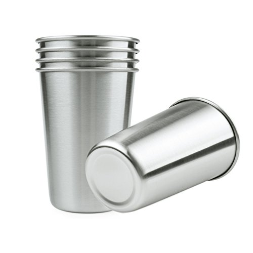 Amazon.com: EDeals Stainless Steel Pint Cups for Beer Water ...
