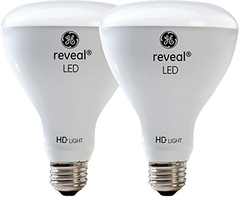 GE Lighting Reveal HD LED 11-watt (65-watt Replacement), 650-Lumen R30 Light Bulb with Medium Base, 2-Pack (Indoor Floodlight R30)