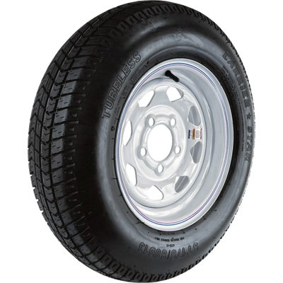 5-Hole High Speed Spoked Rim Design Trailer Tire Assembly - ST175/80D-13 Northern Tool and Equipment