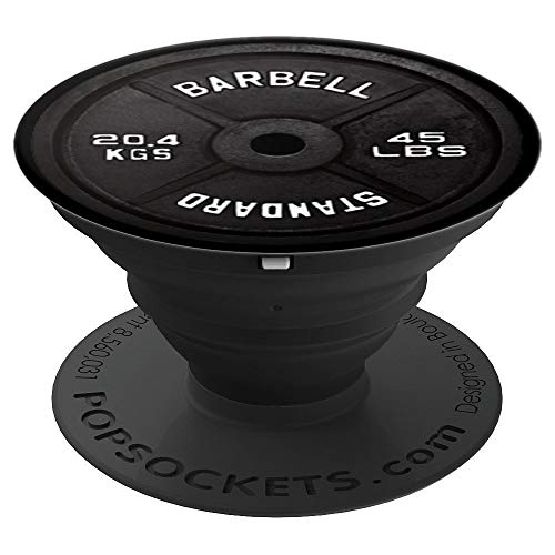 Gym Barbell Weight Plate Body Building Pop Socket - PopSockets Grip and Stand for Phones and Tablets