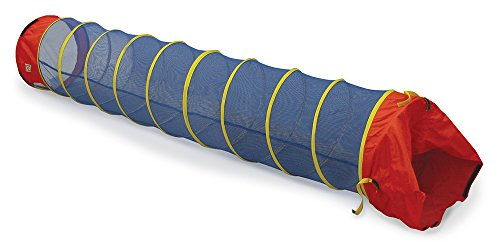 (Pacific Play Tents 20517 Kids See-Thru 9-Foot Institutional Crawl Play Tunnel, 9' x 22