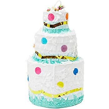 Astounding Amazon Com Juvale Small Birthday Cake Pinata Party Supplies 7 X Funny Birthday Cards Online Elaedamsfinfo