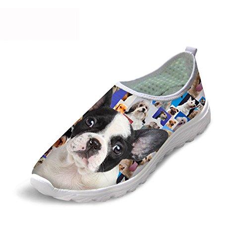 天才それに応じて今ThiKin スポーツシューズ レディース メッシュ シューズ 通気 軽量 犬 柄 トラベル ランニングシューズ 3Dプリント クッション性 カジュアル 靴 おしゃれ ファッション 通勤 通学 プレゼント