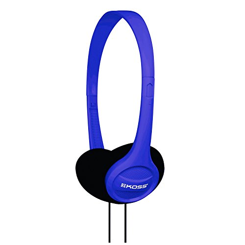 Koss KPH7B Portable On-Ear Headphone with Adjustable Headband – Blue