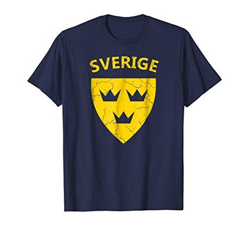 Three Crowns Soccer T-shirt - Sverige Shirt Swedish Tshirt Three Crowns Tre Kronor