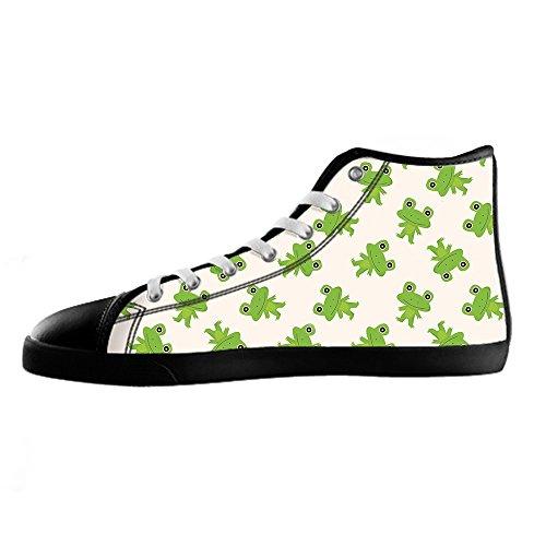 Ginnastica Alto Divertente Shoes Canvas Men's Sopra I Tela Delle Lacci Custom In Di Da Rana Le Scarpe 6wvqA