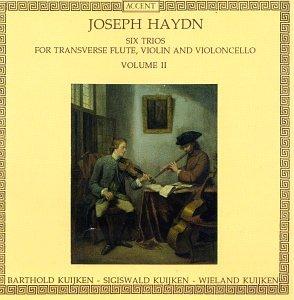 (Joseph Haydn: Six Trios for Transverse Flute, Violin & Cello, Vol. 2 - Barthold Kuijken, Sigiswald Kuijken & Wieland Kuijken)