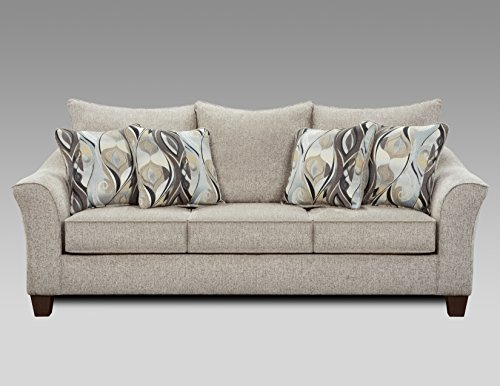 Roundhill Furniture LAF7703CP Fabric Pillowback Sofa