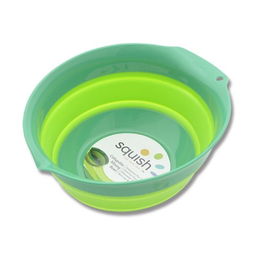 Set Bakeware Silicone Solutions (Squish Mixing Bowl, 5-Quart, Green (41005))