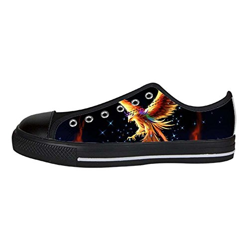 Dalliy Fire phoenix Womens Canvas shoes Schuhe Lace-up High-top Footwear Sneakers E