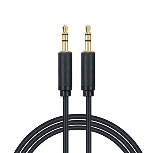 3.5mm Universal Auxiliary Audio Cable (1 Pack 6ft) Aux Cable with Gold Plated Connectors for Beats Headphone,Apple, Android Smartphones, Tablet and MP3 Players