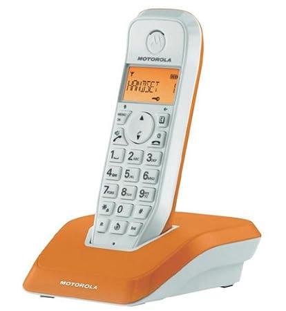 Motorola Startac S1201 DECT Schnurlostelefon Analog, Freisprechen, ECO-Modus, Displaybleuchtung auf Ger/ätefarbe abgestimmt rot