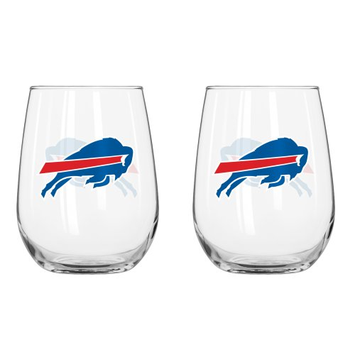 rved Beverage Glass, 16-ounce, 2-Pack (Buffalo Bills Glass)