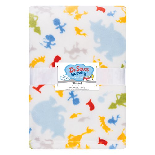Dr Seuss Red Polyester (Trend Lab Plush Baby Blanket, Multi Dr. Seuss Friends)