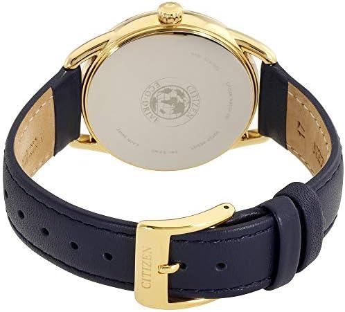 Citizen LTR Femme 37mm Bracelet Cuir Bleu Eco-Drive Montre FE6112-09P