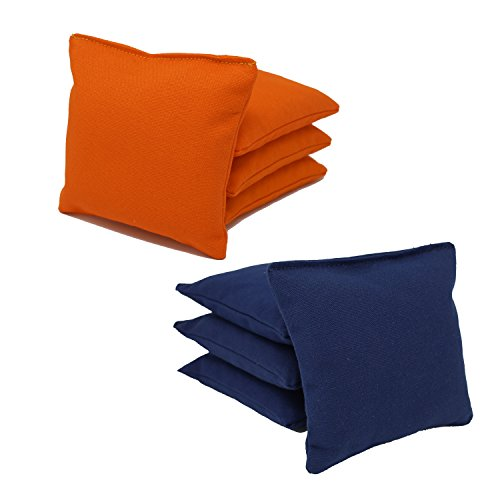 Cornhole Bags Set - (4 Navy Blue, 4 Orange) By Free Donkey Sports