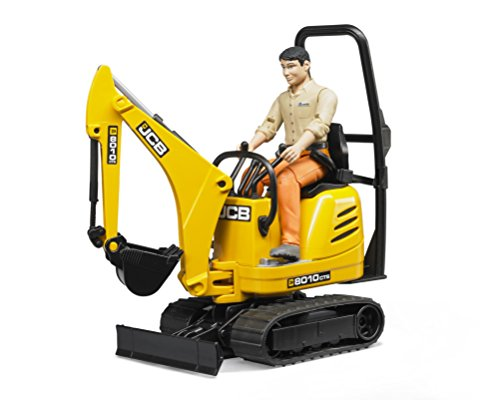 Bruder Jcb Micro Excavator 8010 Cts and Construction Worker (Colors May ()