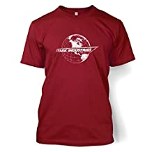 Stark Industries Globe T-shirt - Films, TV And Movie Geeky Tshirt - Cardinal