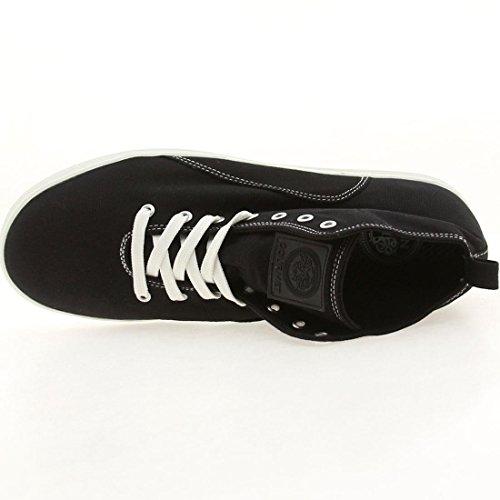 GOURMET NFN Quattro C Black White Mens Lace Up Sneaker Shoe Size 8