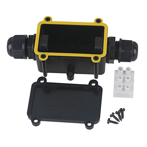 CNBTR Outdoor Waterproof IP68 Junction Box 2 Way Cable Wire Connector Protection Gland Electrical With 3 Terminal