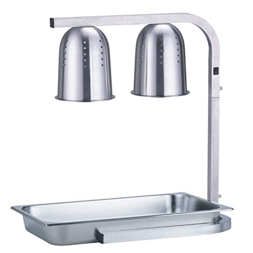 Infrared Warming Lamp - portable table electric chaffing dishes stainless steel bain marie food warmer tray display showcase for party catering food warming lamp infrared heat lamp