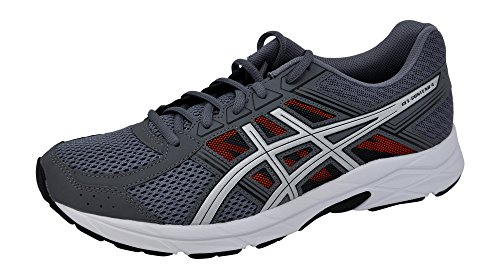 ASICS Men's Gel-Contend 4 Running Shoe Carbon/Silver/Orange, 12 D(M) US