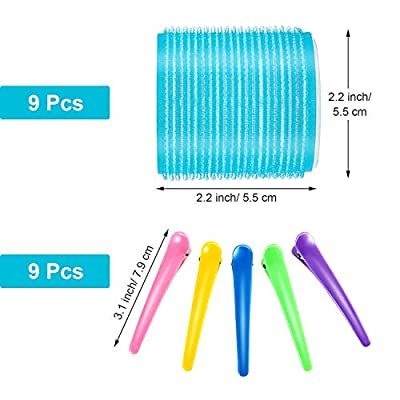 Self Holding Rollers and Plastic Duck Teeth Bows Hair Clips for Women, Men and Kids