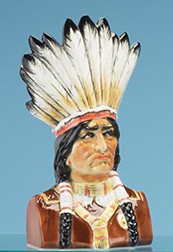 Native American Bust, Indian Chief Pipe Holder, Limited Edition, Handcrafted in Germany by GermanStein