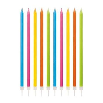 10 velas mágicas de colores, largas, altas, con llama que no ...