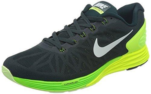 Nike Lunarglide 6, Herren Laufschuhe Weiß, Grün (Seaweed / White / Volt / Electric Green)