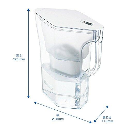 BRITA ブリタ 浄水 ポット 1.3L ナヴェリア ホワイトメモ ポット型 浄水器 カートリッジ 2個付き (1個増量) スタイリッシュ エントリーモデル 【日本仕様・日本正規品】