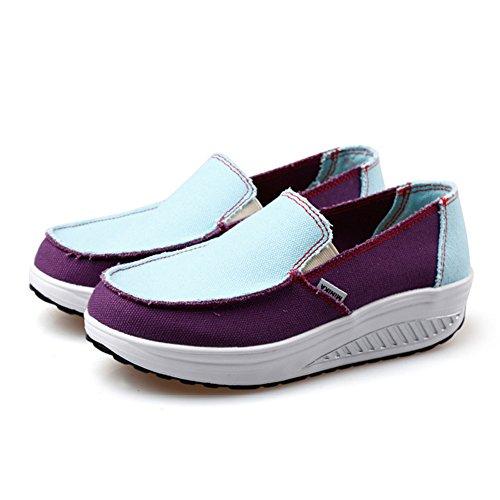 Mujeres la Lona Deportivos Casuales Zapatos Ocasional de de Sacudida Las Pendiente la CAI Zapatos Zapatos Aptitud Las 2018 de Sacudida de pies Juegos la de de Verano Zapatos con señoras Sacudida xaY4vWxn