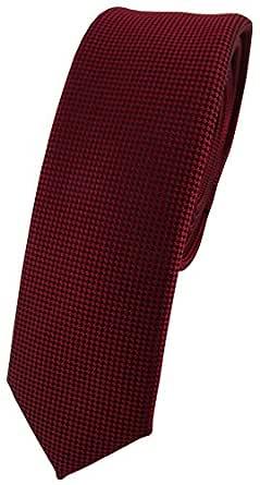 TigerTie - corbata estrecha - burdeos púrpura lunares: Amazon.es ...