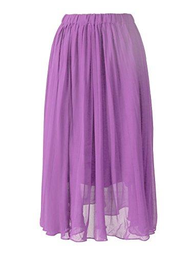 d9b6903e2d2 Izanoy Brautjungfer Hochzeit Kleider Chiffon Damen Lavendel Party Strand  Röcke Für