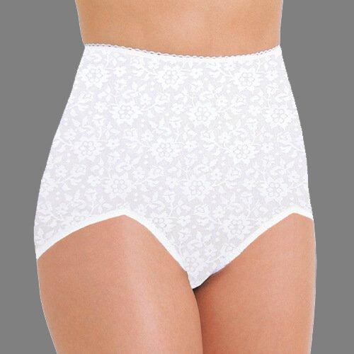 Rago Women's V Leg Extra Firm Control Brief Panty, Black, 4X-Large (38)