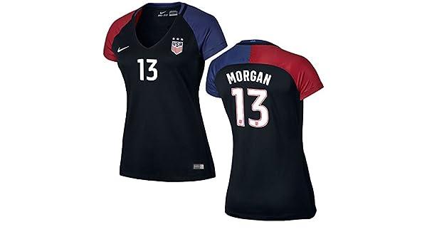NIKE Alex Morgan Nosotros fútbol Estadio de réplica de la Camiseta de la Mujer, Negro: Amazon.es: Deportes y aire libre