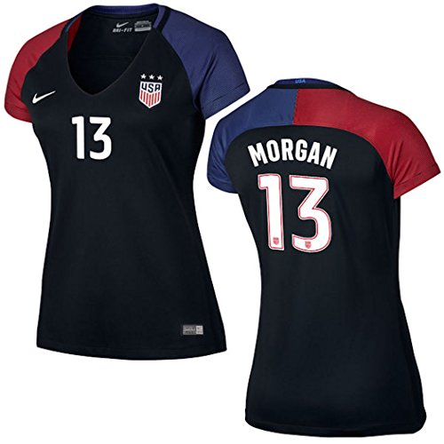 Alex Morgan US Soccer Nike Women's Away Replica Stadium Jersey (Black, (State Nike Jersey)