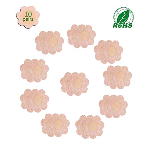 Pasties for Women,10 Pairs Nipple Breast Covers Ultra Thin Smooth Breast Petals for All Sizes Chest