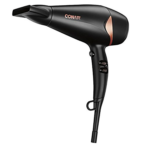 Conair Quick Blow-Dry Pro Styler/Hair Dryer, 1875 Watt, Black/Copper