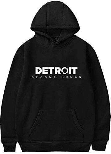 Stampa Felpe Cappuccio Human Stampato Sportive Per A Detroit 2 nero Con Uomo Di Become Oliphee 3d RATqvwxA
