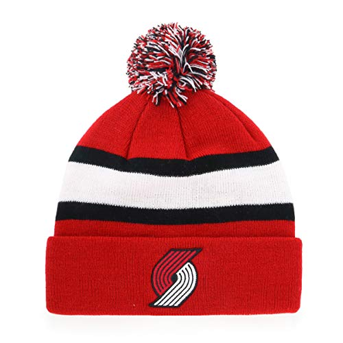 - OTS Men's NBA Rush Cuff Knit Cap with Pom, Team Color, One Size