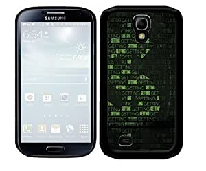 Green and Black Money Sign with Words Intertwined and Black Background 2-Piece Dual Layer High Impact Black Silicone Cell Phone Case Cover Samsung Galaxy S4 I9500