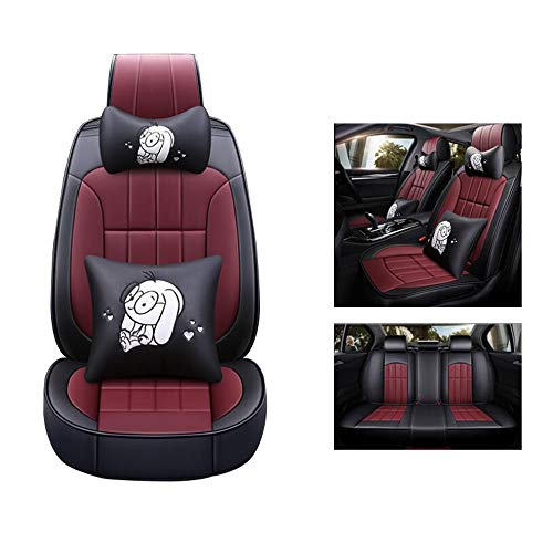 HRFFCLH Cartoon Pattern car seat Cover Compatible with Mitsubishi Series: Langer, Galant, GRANDIS, Outlander, Pajero, Zinger,Gold,GRANDIS