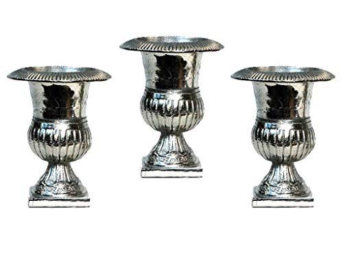 Conjunto 3 Vasos Mini Medicis Sarquis Samara Prata