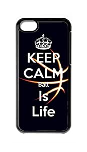 diy case Ball Is Life / Basketball Is Life Snap-on Hard Back Case Cover Shell for iphone 4 4s -2796
