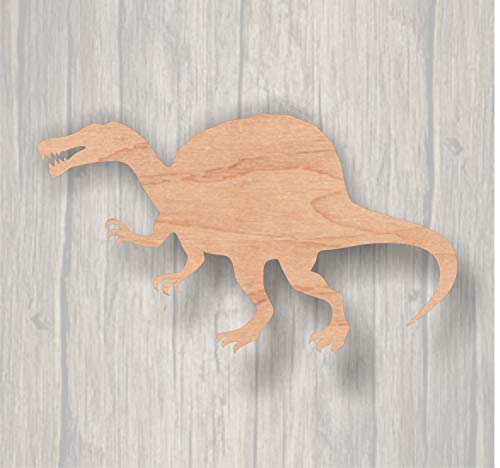 DASON Spinosaurus Unfinished Wood Cutout Wood Cutout Laser Cutout Wood Sign Sign Blank Ready to Paint Door Hanger Dinosaur