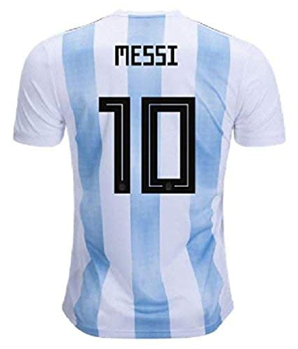 3edcdf9cc Step Shoes Men s Polyester Argentina 2018 World Cup Messi Jersey T-Shirt  (Blue Medium