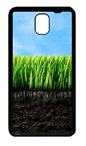 Galaxy Note 3 Case, Note 3 Cases - Grass And Dirt Soft Rubber Bumper Case for Samsung Galaxy Note 3 N9000 TPU Black