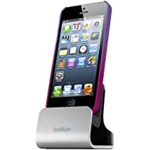 Belkin F8J057bt Cradle with Audio Port for iPhone 5/5s,iPod Touch 5th Generation - Silver